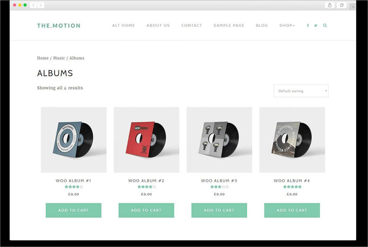 TheMotion is WooCommerce ready