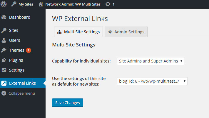 open links external default