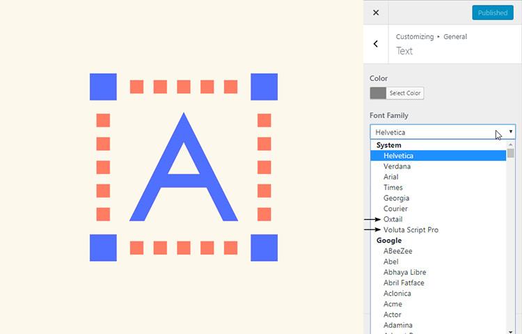 cutom fonts