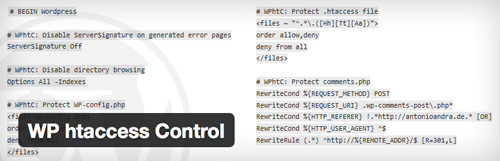 Wordpress .htaccess control access plugin for WP admin