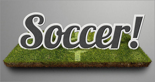Soccer-Themed Text Effect