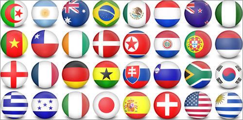WorldCup Flag-Balls