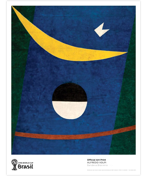 "2014 FIFA World Cup Brazil Alfredo Volpi ""Bandeira Brasileira"" Official Art Print"