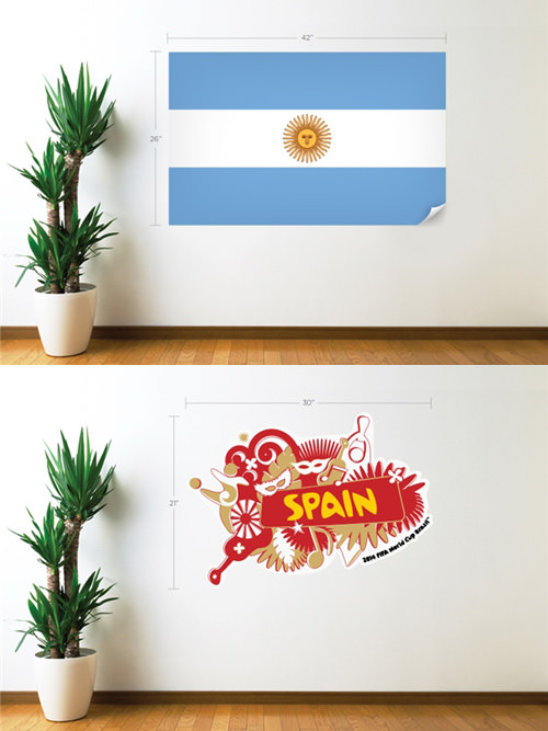 FIFA World Cup 2014 National Team Wall Decals