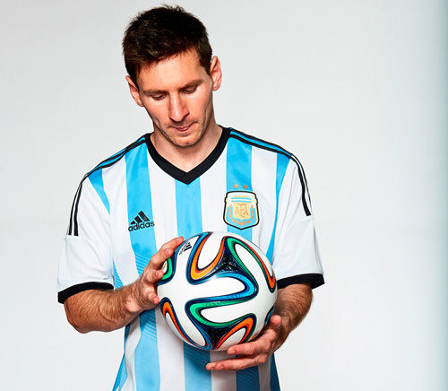 Lionel Messi And The Brazuca