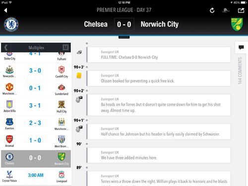 Eurosports iPad App