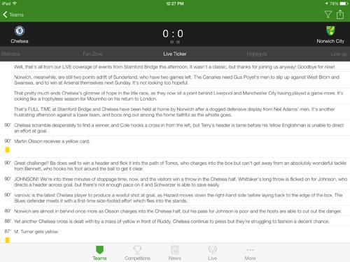 Onefootball iPad App