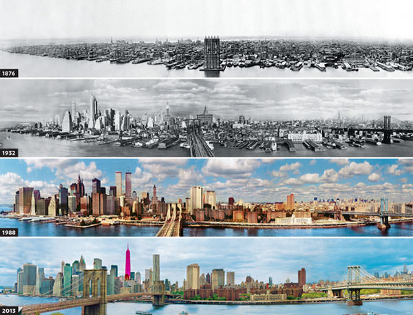 22 Earlier than & After Images of Metropolis Skylines Round The World