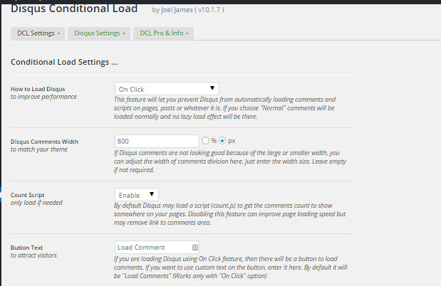 Disqus Conditional Load (DCL)