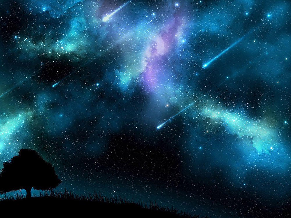 meteor shooting stars wallpaper