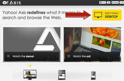 Yahoo Axis for Chrome