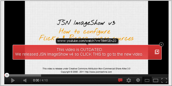 Add annotations for the Youtube video tutorial.